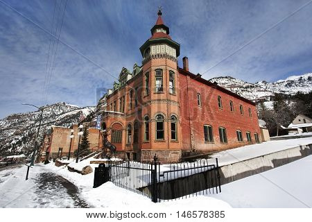 The Elks Lodge #492 in Ouray, Colorado built in 1904,located in the Ouray Historic District which was listed by the National Register of Historic Places