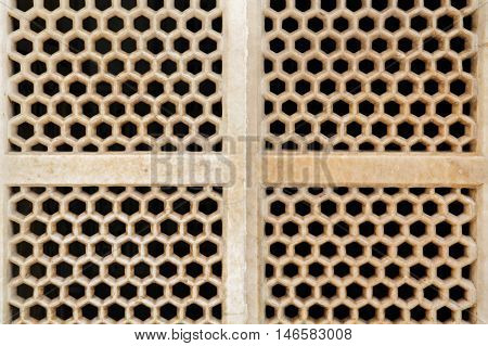 Honey comb style holes abstract texture background