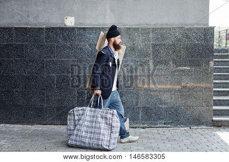 Vagrant on the street