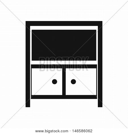 Vintage sideboard in simple style isolated on white background vector illustration