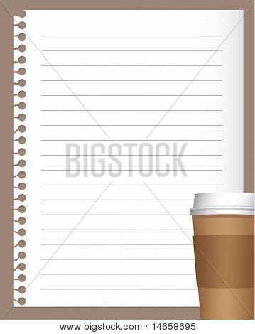 Notebook Paper With Coffee