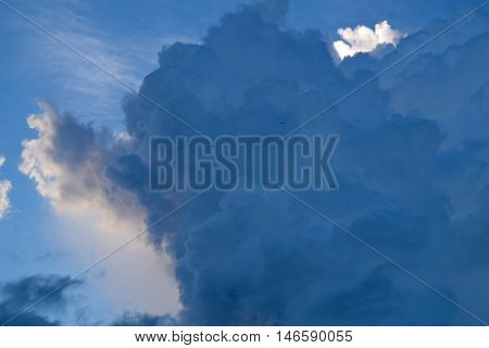 rain clouds after storm or Stratocumulus clouds