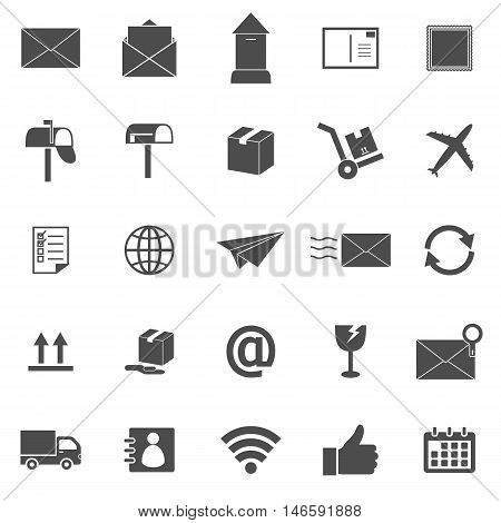 Post icons on white background, stock vector
