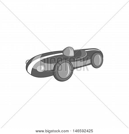Childrens machine icon in black monochrome style isolated on white background. Games and toys symbol vector illustration