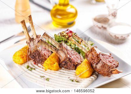 Grilled Lamb Steak