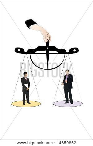 Vector illustration of businessmen