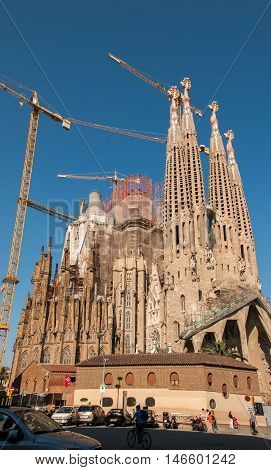 JUNE 15 2011 - BARCELONA SPAIN: La Sagrada Familia Cathedral in Barcelona