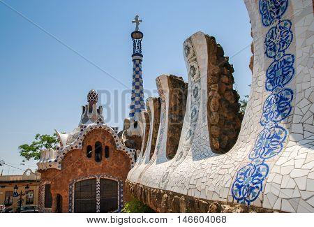 JUNE 16 2011 - BARCELONA SPAIN: Park Guell Barcelona. Spain