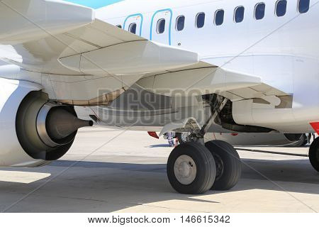 Aircraft Wheel And Engine