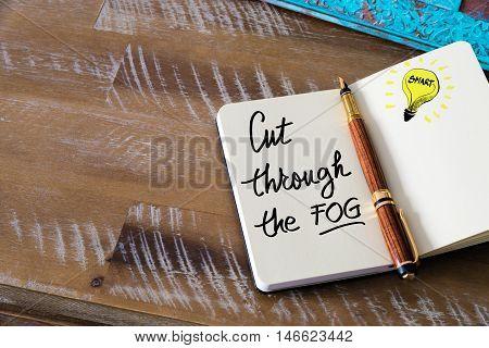 Written Text Cut Through The Fog