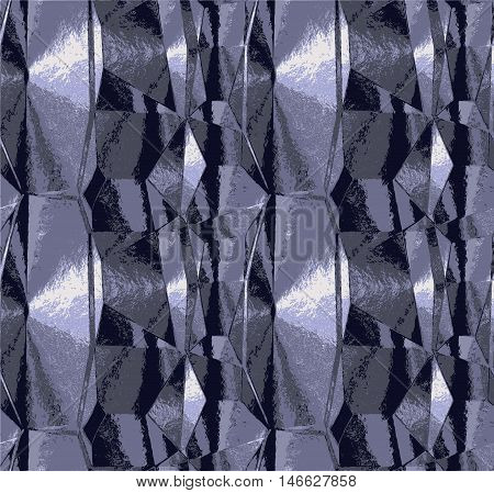 Abstract silver and gray metal pattern with crumpled brushed structure. Background of silver, gray, white and black metal foil texture
