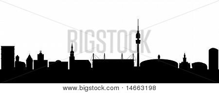 Dortmund Silhouette abstract