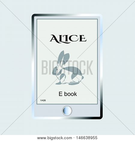 an electronic version of a printed book or a phone vector illustration