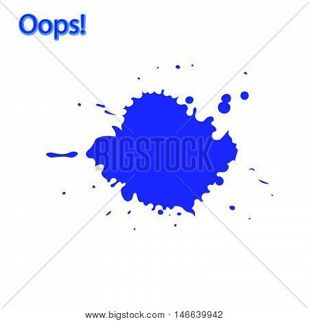 recognition of a mistake or minor accident often as part of an apology Oops something went wrong vector illustration