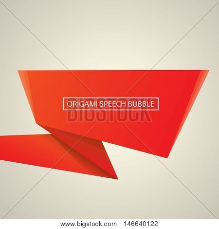 Abstract glossy red speech bubble. Vector abstract red background. vector red sale banner