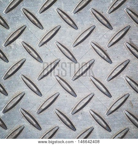 Pattern style of Steel floor background and texture