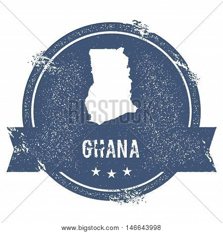 Ghana Mark. Travel Rubber Stamp With The Name And Map Of Ghana, Vector Illustration. Can Be Used As