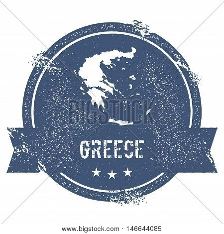 Greece Mark. Travel Rubber Stamp With The Name And Map Of Greece, Vector Illustration. Can Be Used A