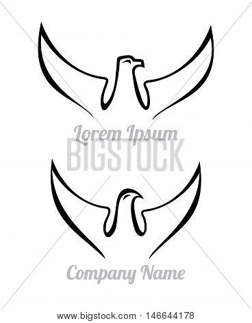 Two variants of vector logo isolated on a white background.
