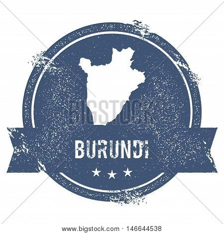 Burundi Mark. Travel Rubber Stamp With The Name And Map Of Burundi, Vector Illustration. Can Be Used