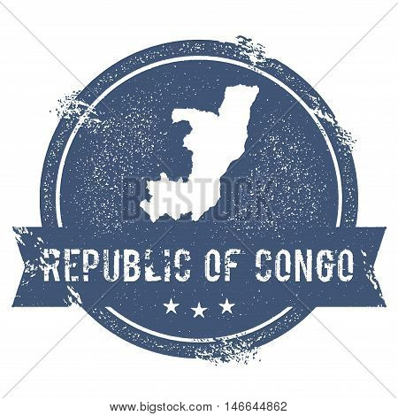 Congo Mark. Travel Rubber Stamp With The Name And Map Of Congo, Vector Illustration. Can Be Used As