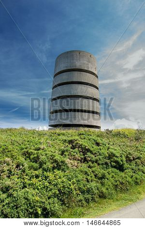 Pleinmont observation tower, Guernsey, built by the occupying German Forces during WW2