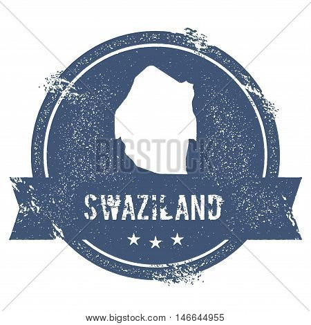 Swaziland Mark. Travel Rubber Stamp With The Name And Map Of Swaziland, Vector Illustration. Can Be