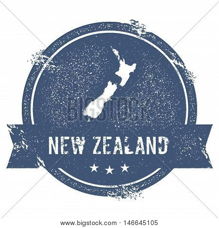New Zealand Mark. Travel Rubber Stamp With The Name And Map Of New Zealand, Vector Illustration. Can