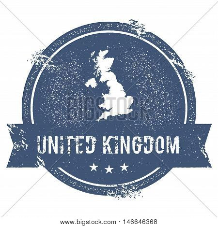 United Kingdom Mark. Travel Rubber Stamp With The Name And Map Of United Kingdom, Vector Illustratio