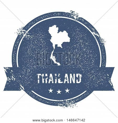 Thailand Mark. Travel Rubber Stamp With The Name And Map Of Thailand, Vector Illustration. Can Be Us