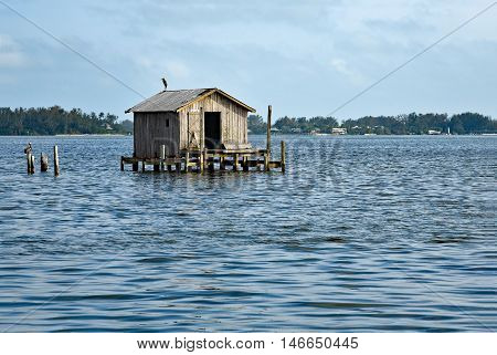 Old Abandoned Fishing House in the Bay of Cortez Florida