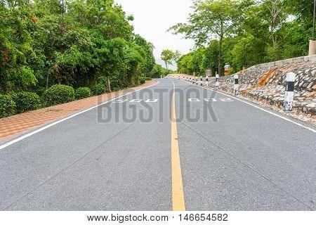 Outdoor parking road in pattaya city thailand