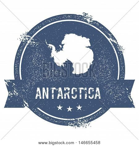 Antarctica Mark. Travel Rubber Stamp With The Name And Map Of Antarctica, Vector Illustration. Can B