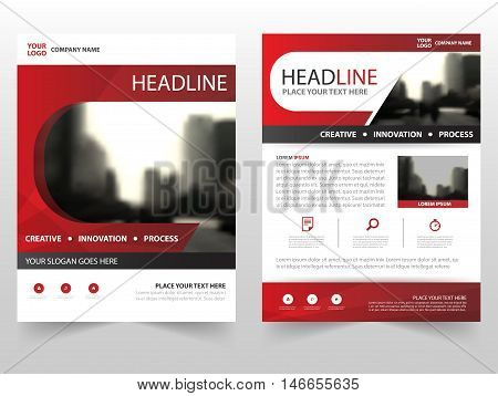 Red business Brochure Leaflet Flyer annual report template design book cover layout design abstract business presentation template a4 size design