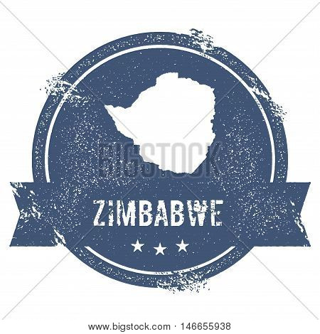 Zimbabwe Mark. Travel Rubber Stamp With The Name And Map Of Zimbabwe, Vector Illustration. Can Be Us