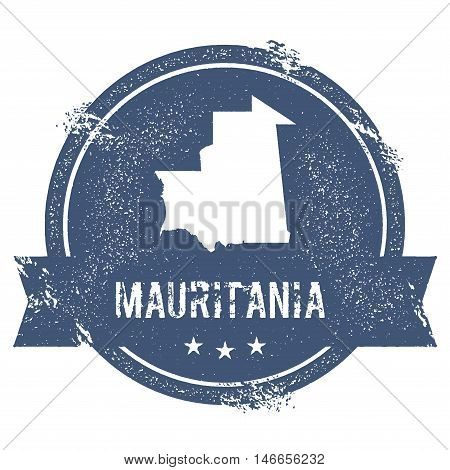 Mauritania Mark. Travel Rubber Stamp With The Name And Map Of Mauritania, Vector Illustration. Can B