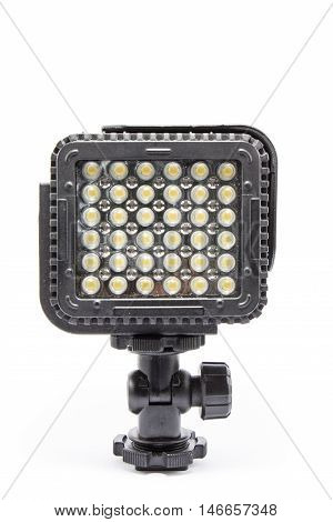 Video lighting LED isolated on white background