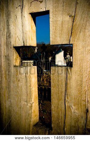Wooden Cutout Cross