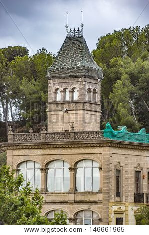 BARCELONA SPAIN - JULY 3 2016: Gaudi House Museum in Park Guell in Barcelona. It is a home where Antoni Gaudi Spanish artist lived and worked.