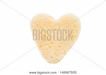 bread heart love, symbol on white background