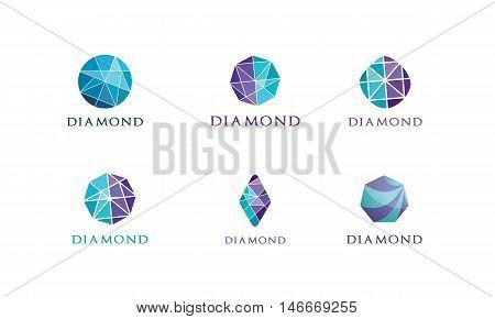 diamond logo, Jewelery design, Gem icon set