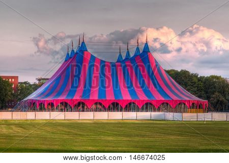 Big Top Festival Tent In Red Blue Green
