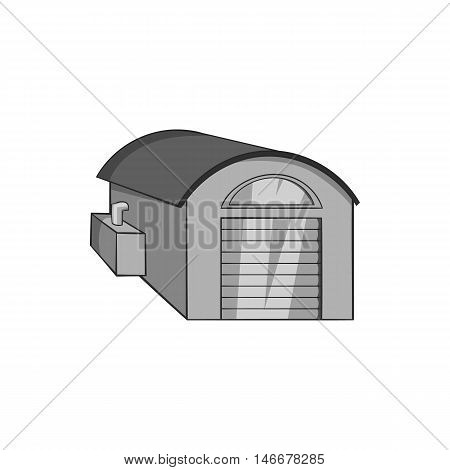Warehouse icon in black monochrome style isolated on white background. Storage symbol vector illustration