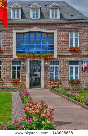 Fontaine le Bourg France - june 23 2016 : the city hall