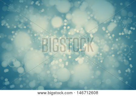 Vector Teal Bokeh Background. Abstract Defocused Bright Lights