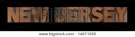 New Jersey in old wood type