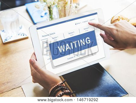 Waiting Entry Pending Approved Reject Concept