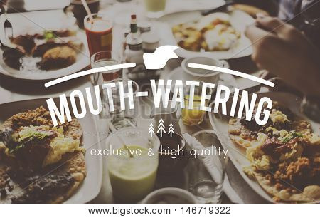 Mouth-Watering Dining Eating Food Beverage Concept