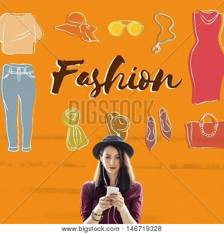 Fashion Designer Fashionable Clothing Clothes Concept