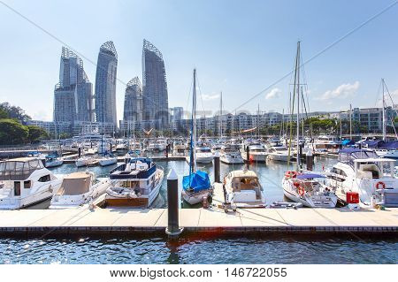 Caribbean at keppel bay. It's luxury residential in Singapore City